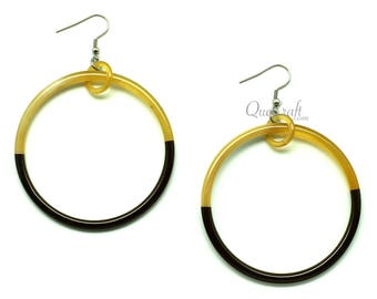 Horn & Lacquer Earrings - Q11488-T