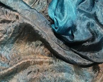 Cumberland in  Hand Dyed Habotai Silk  for Nuno Felting