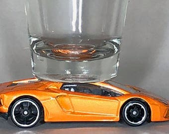 Hot Wheels, Classic Hot Rods, Shot Glass, Lamborghini Aventador LP 700-4, Hot Wheel car