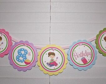 PJs & PANCAKES Birthday Word Banner / Pajama Birthday Banner / Pancake Banner / Pajama Banner / PJs and Pancake Birthday Party