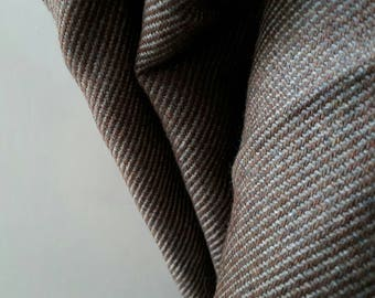 WOOL FABRIC / brown / pure wool