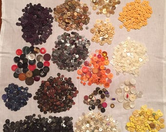 Huge lot of vintage, antique and newer buttons almost 3 pounds of buttons