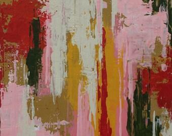 "Original Abstract Painting -- Magnolia Gardens I -- 5 x 5"""