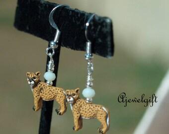 Cheetah Earrings 18018