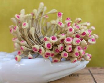 Vintage Flower Stamens Millinery Supply 1940s Japan Original Tag