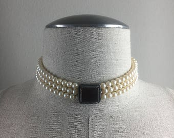 Vintage 50s choker pearl necklace