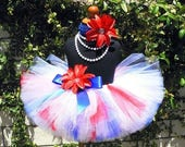 SUMMER SALE 20% OFF July 4th Tutu, Girls Tutu, Red White and Blue Tutu, American Darling, 8'' Tutu, Fourth of July Tutu, Military Photo Prop