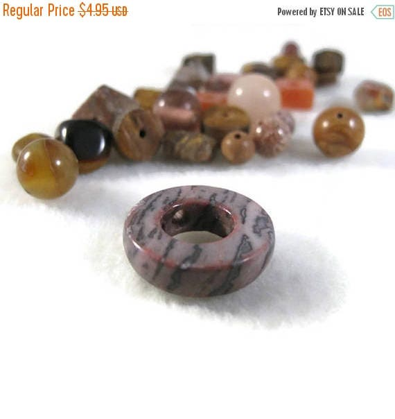 Memorial Day SALE - Brown Gemstone Bead Mix, Gemstone Grab Bag, 28 Beads for Making Jewelry, Assorted Shapes and Sizes (L-Mix7b)
