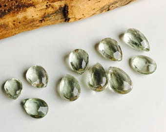 Green Amethyst Briolettes, Destashed Beads, Top Drilled Beads, Green Briolettes, Green Beads, Etsy, Etsy Jewelry