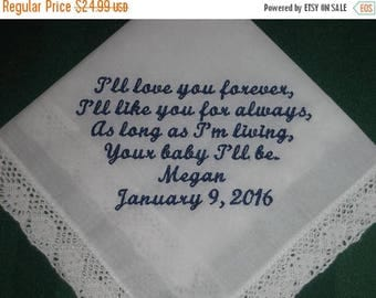 ON SALE Mother of the Bride Handkerchief-Hanky-Hankie style 36S with Gift Box