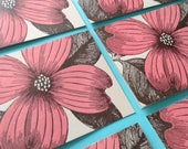 PINK DOGWOOD FLOWER Greeting Cards Farmers Market Letterpress Card Pack of 8 flowering trees
