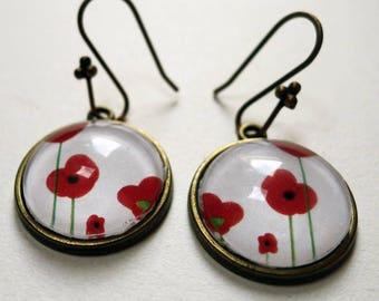 BO064 poppy earrings