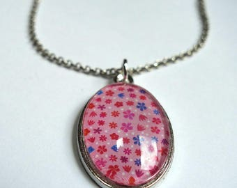 Oval necklace, Strawberries