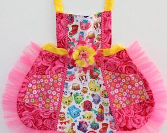 Cutest Shopkins Apron, toddler apron, girls apron