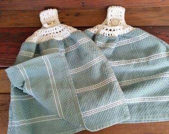Crocheted Top Kitchen Towel