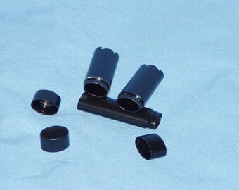 custom for Hui Li      500 new (empty) black oval lip balm tubes - made in USA ship to China address