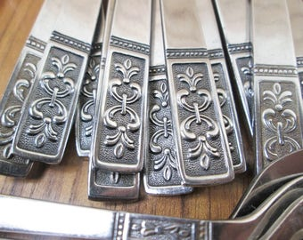 Vintage Stainless Flatware Set IIC Imperial International Cortina 11 Place Settings + Mid Century Modern Japan 63 Piece Lot