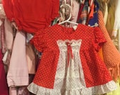 70s Baby Dress and Bloomers 12/18 Months