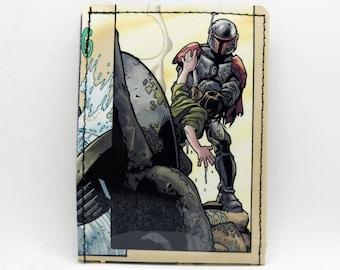 Sewn Comic Book Wallet - Star Wars Wallet - Boba Fett Wallet, Jango Fett, Mandalorian