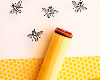 Large Bee Rubber Stamp