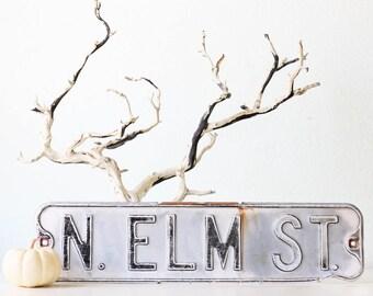 Vintage Elm Street Sign