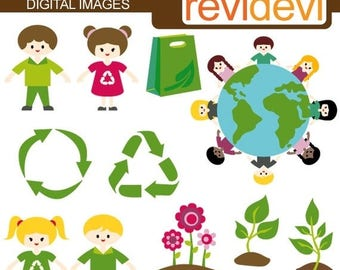 35% OFF SALE Recycle clipart / Earth day clipart / digital images / commercial use clipart