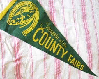The County Fair...Fun Vintage Felt Souvenir Pennant