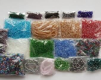 Destash - 10K+ glass rondelle beads