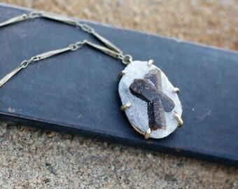 Staurolite in Matrix Necklace