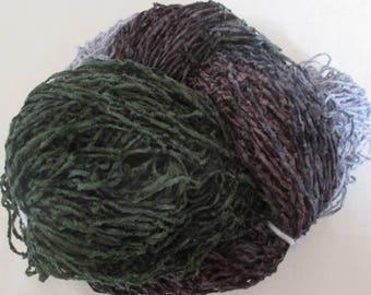 Handpainted Soft Rayon Chenille Yarn  SMOKY MOUNTAINS  -  360 yds