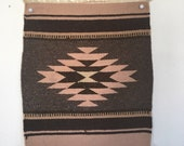 Vintage Handwoven Rug, vintage Textile,  Native American Wool Cloth for use as a Rug or Wall Hanging