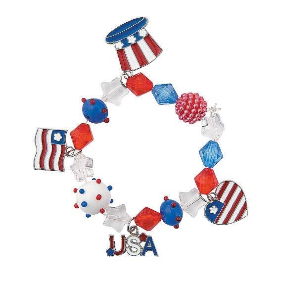 Mixed Media Patriotic Bracelet