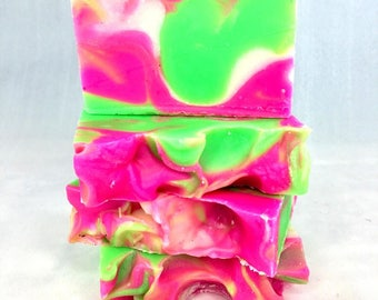 Pink & Green Soap