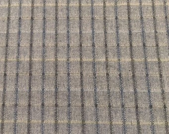 Woven Japanese Taupe small plaid by Lecien - 1 yard