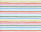 Amalfi Happy Stripes Cream LAWN - 100% cotton lawn - Rifle Paper Co for Cotton+Steel - fabric by the fat quarter, half yard, yard