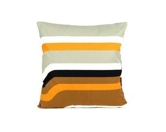 Modern Throw Pillow 16x16, cushion cover, pillow sham, 70s pillow, retro cushion cover, designer pillow, mid century pillow by EllaOsix