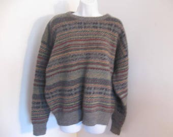 Vintage Wool Sweater Man's Wood Sweater Pullover Sweater by Club Room size XL