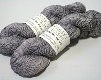 "Hand Painted Artisan Yarn, ""Bike Seat"" colorway (#81517), COTTON/SW Merino Wool Yarn, Cotton Sheep Sock"