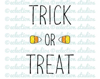 Halloween SVG, fall svg  - Trick or Treat, Fall, Autum, candy corn SVG, DXF, eps, jpg, and png file for silhouette or cricut cutting machine