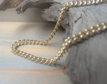 Gold Chain Necklace Gold Curb Chain Bracelet 3mm Gold Plate Chain By the Foot Item No. 0424 9938