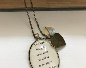Audrey Hepburn inspired necklace