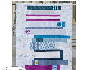 """Windham BOOK CLUB Quilt Kit Fabric Pattern 55"""" x 70"""" Features the Literary Collection by Heather Givans"""