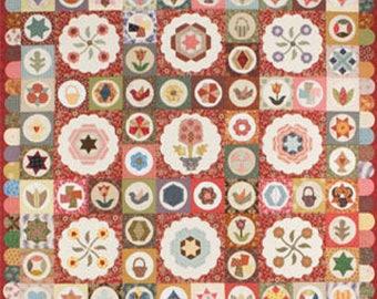 Sue Daley ANTIQUE SAMPLER Quilt Kit English Paper Piecing & Needle Turn Applique Fabric PWBANTQS