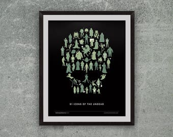 undeadWe (51 Zombies, Ghosts and Ghouls) Giclee Print