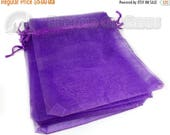 "40% Retirement Closeout - Violet, Organza Gift Bag, 5x6"", Drawstring Closure, 10 Bags, 3PO40-0073"