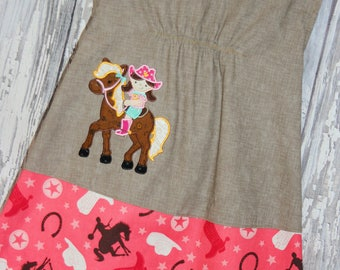 Going out of business SALE, girls horse dress ,size 2T girls dress, Western Wear, Ready to ship