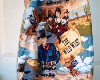 """Check out this great The Wild West Tote Bag, pocket on the inside. Go to the Beach Mall Flea Market Spa   18x15x4  21"""" strap  MADE IN USA"""