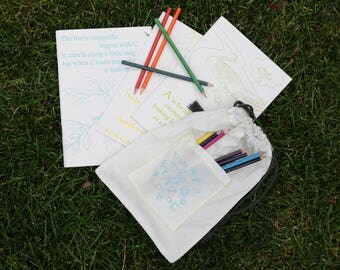 ABC coloring book set