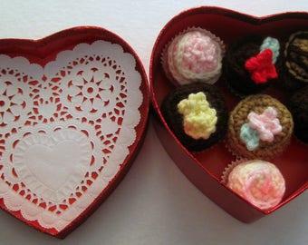 Valentine Heart Box Crocheted Chocolates