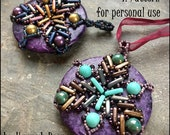 NEW Bead Tutorial - Dreamcatcher Donut Pendant or Ornament- a netted intermediate/advanced bead project by Hannah Rosner - instructions